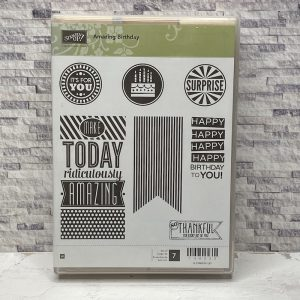 amazing birthday, stampin up, stampin treasure, gebruikt, tweedehands